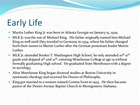 Mlk Ppt Martin Luther Powerpoint