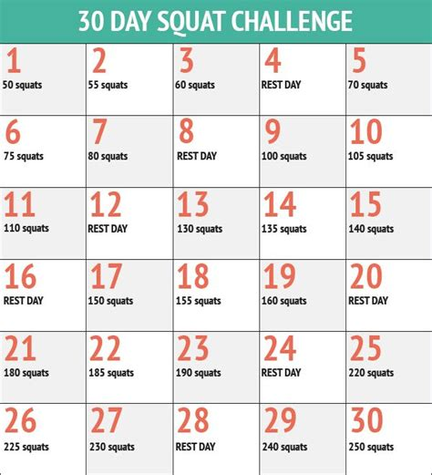 40 day health challenge 30 day squat challenge news health charts and 30 day