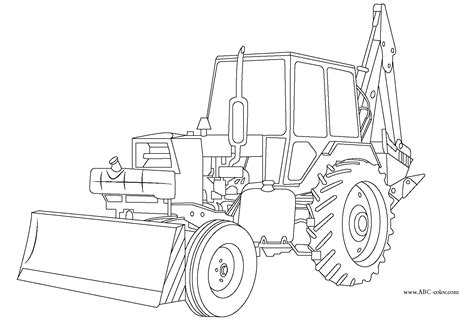 excavator coloring pages free free excavator coloring pages