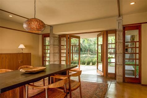 Millard House Design Frank Lloyd Wright Millard House Open Plan Dining Living Terrace Interior Design Ideas