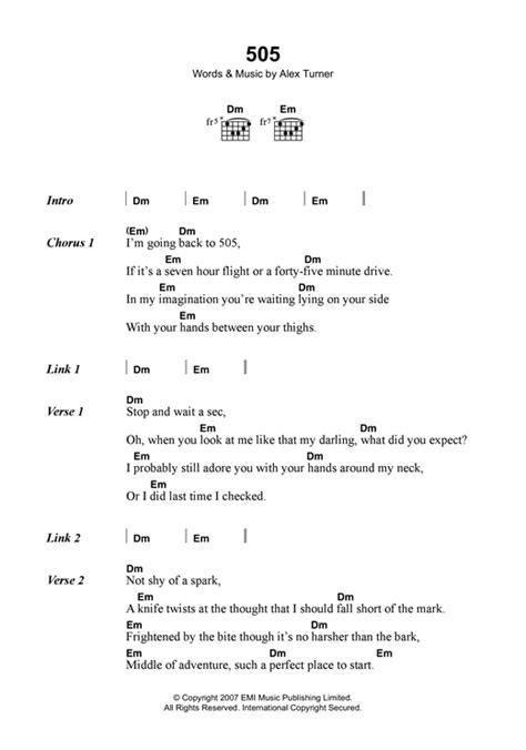 Ukulele Tutorial Arctic Monkeys   505 sheet music by arctic monkeys lyrics chords 121778