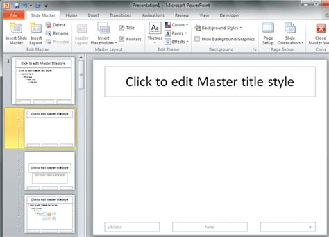 layouts for powerpoint 2010 inserting new placeholders in slide layouts in powerpoint