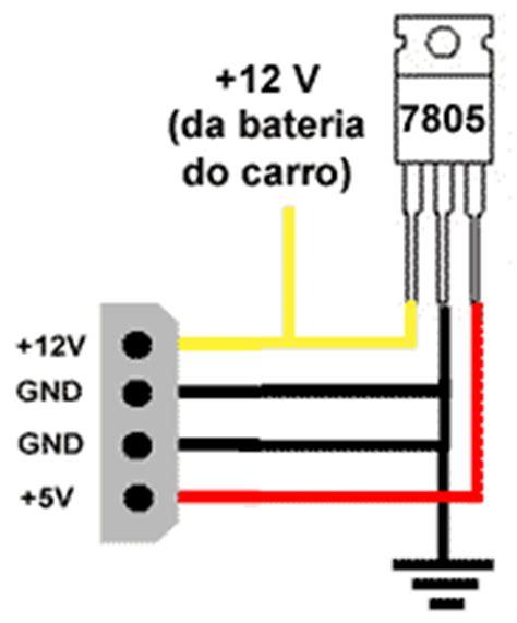 resistor 12v para 5v como transformar um cd rom em cd de carro 193 udio clube do hardware