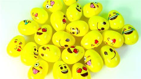 huevos decorados de emojis huevos sorpresa de caritas con juguetes shopkins minions