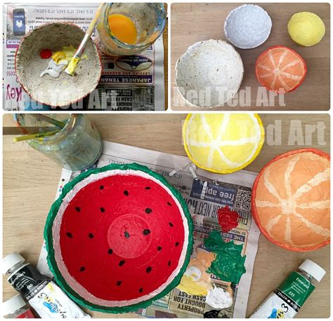 How To Make A Paper Mache Bowl - papier mache summer fruit bowls ted s