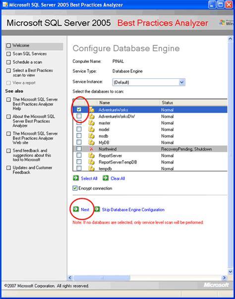 sql query analyser tutorial sql server 2005 best practices analyzer tutorial
