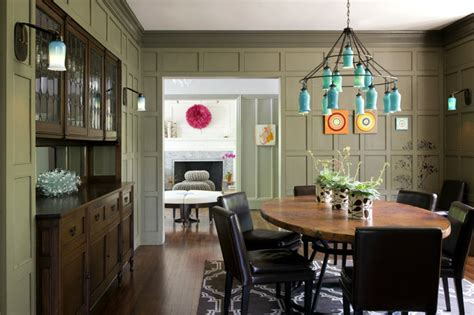 Houzz Green Dining Room Eclectic Modern Tudor Dining Room
