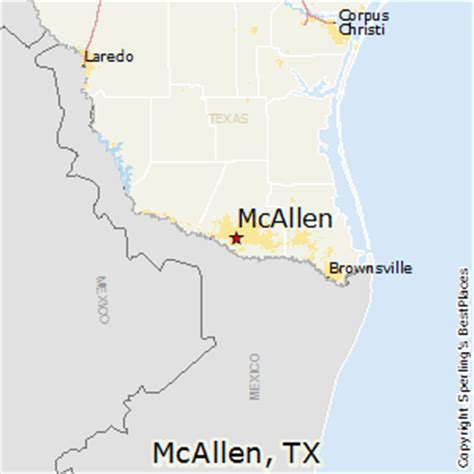 where is mcallen texas on the map image gallery mcallen