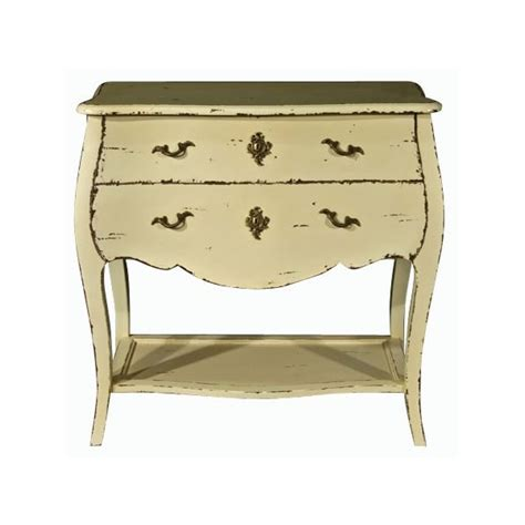 shabby chic 2 drawer bedside cabinet