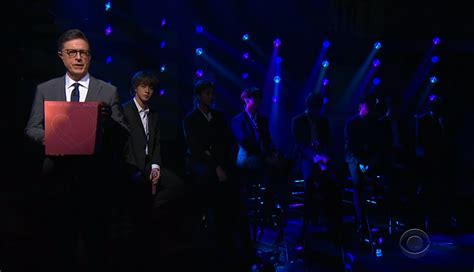 bts interpreta en vivo    en  late show