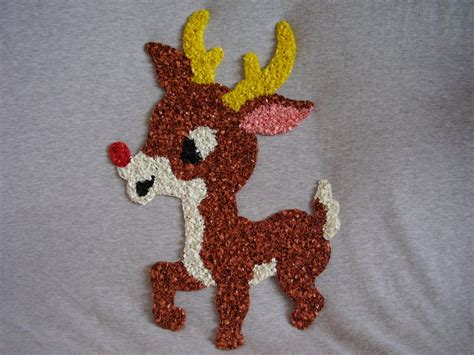 Melted Plastic Popcorn Decorations by Melted Plastic Popcorn Decorations Lot1 3 Pcs Reindeer