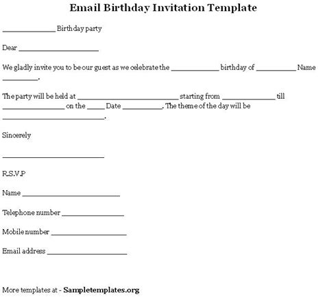 email invitation templates free happy birthday template word new calendar template site