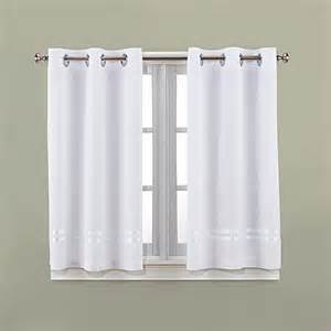 Bathroom Window Curtains Hookless 174 Escape 45 Inch Bath Window Curtain Panels Bedbathandbeyond Ca