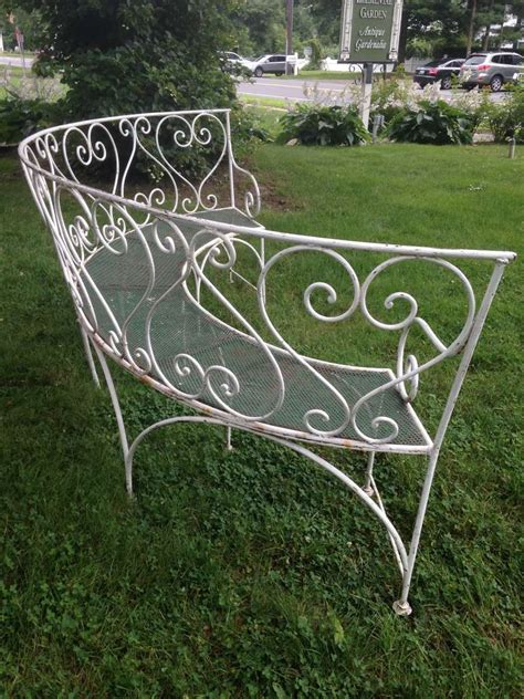 wrought iron benches garden wrought iron french garden bench for sale at 1stdibs