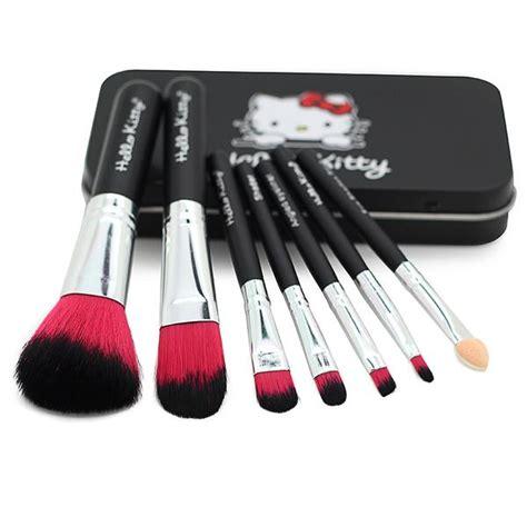 Make Up Brush 7 In 1 Black Hello hello makeup brush set 7 pcs black or pink cat cas bluemoon secrets chamber