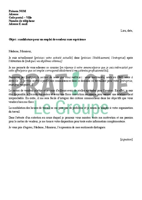 Exemple Lettre De Motivation Vendeuse Sans Experience Exemple Cv Vendeuse Sans Experience Cv Anonyme