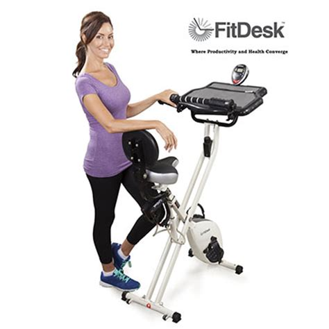 Best Desk Cycle by Fitdesk Fdx 2 0 Desk Exercise Bike With Bar White