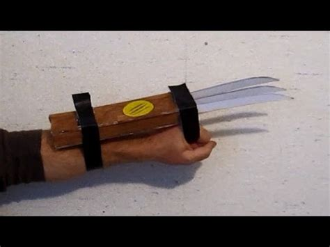 How To Make Wolverine Claws Out Of Paper - make wolverine claws that work