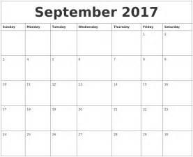 september 2017 calendar month calendar template