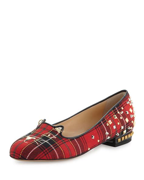 plaid loafers olympia plaid loafers in lyst