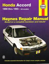 1990 1993 honda accord haynes repair manual