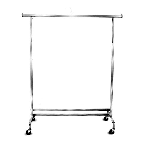 Rolling Rack by Square Tubing Chrome Rolling Rack Square Tubing Rolling