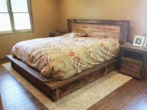 Wood Framed Beds Reclaimed Wood Bed Frame Storage Drawers What We Make