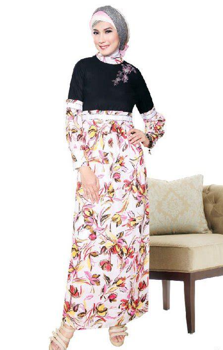Baju Muslim Batik Kombinasi Polos 37 model baju gamis batik kombinasi polos terbaru 2018