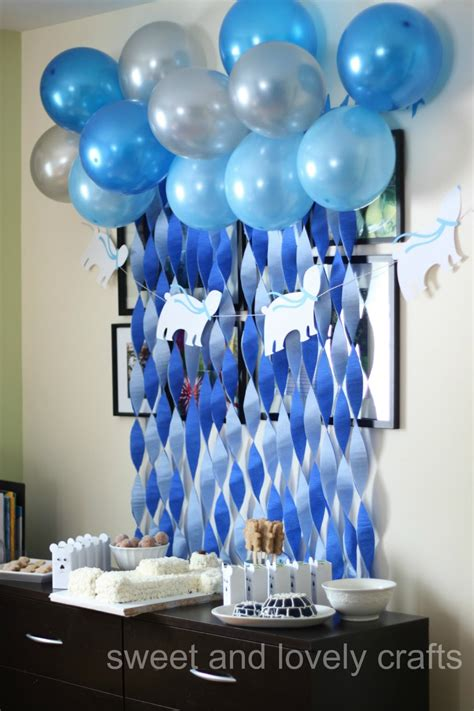 party themes with blue sweet and lovely crafts polar bear birthday