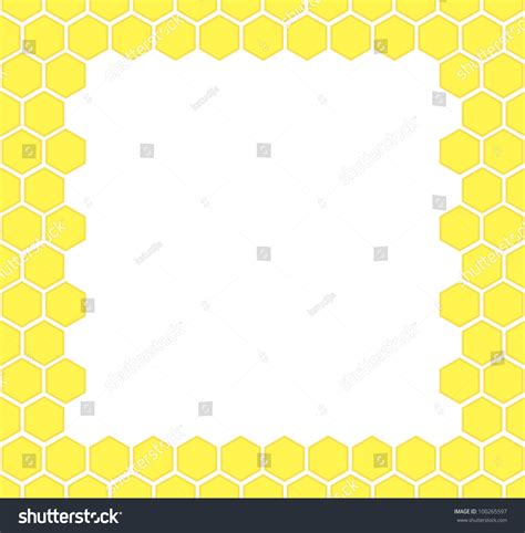 honeycomb pattern frame honeycomb vector background frame 100265597 shutterstock