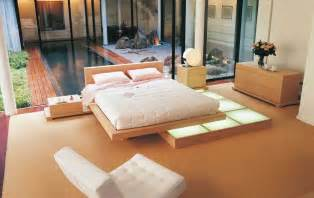Platform Bed Decor Japanese Style Platform Bed Interior Design Ideas