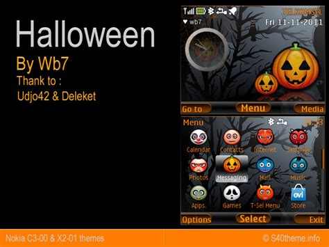 themes for nokia asha 201 phones mobile phones themes halloween for c3 00 asha 201 x2 01