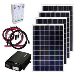 Small Home Solar Kit Grape Solar 400 Watt Grid Solar Panel Kit Gs 400 Kit