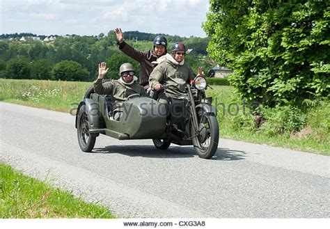 Motorrad Oldtimer Rennen Frankreich by Motorcycle With Sidecar Stockfotos Motorcycle