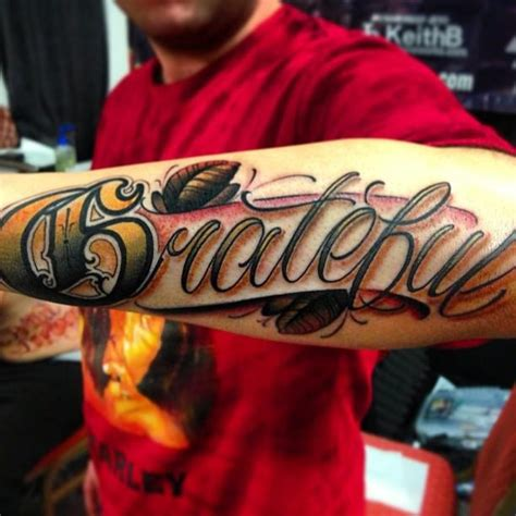 best script tattoo artists big meas justin wilson grateful 字