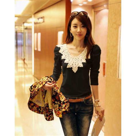Blouse Wanita Lengan Panjang blouse wanita model lengan panjang t1734 moro fashion