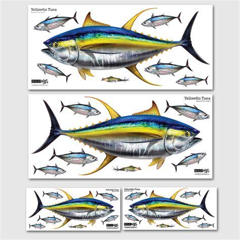 Repositionable Wall Stickers bold wall art yellowfin tuna wall decal