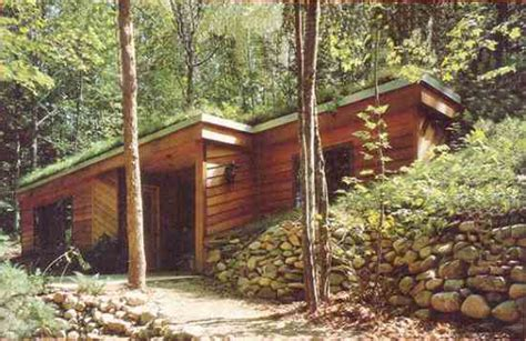Earth Sheltered Cabin by Small Earth Berm House Plans Studio Design Gallery