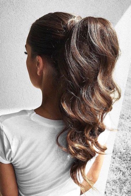 homecoming ponytail hairstyles elegant ponytail using ombr 233 chestnut luxy hair extensions