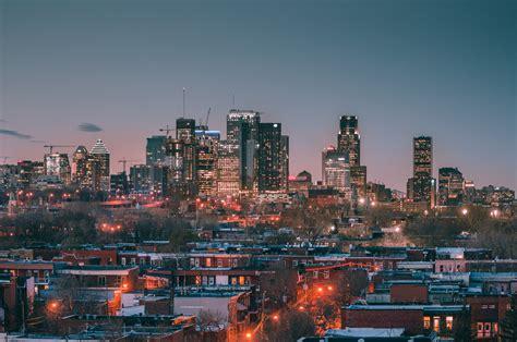 city canada lights skycrapers montreal wallpapers hd