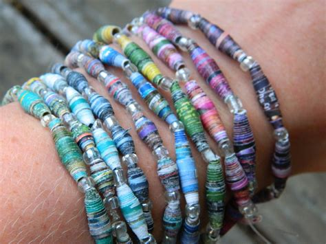 How To Make A Paper Bead Bracelet - redwoodjul paper bead bracelets
