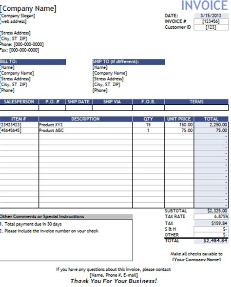 invoice template for contractor invoice template contractor invoice exle