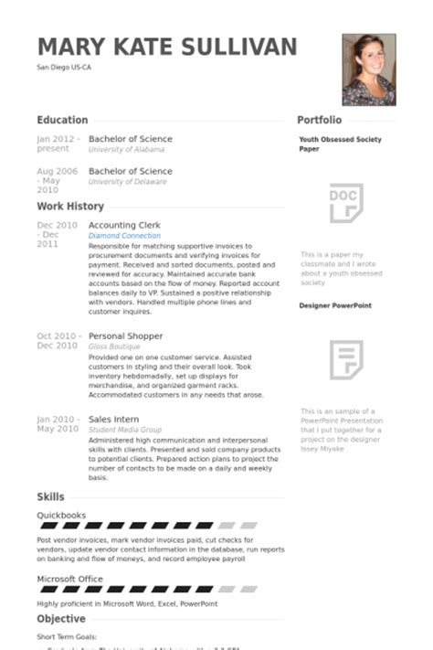 Accounting Clerk Resume Sles 2012 Accounting Clerk Resume Sles Visualcv Resume Sles Database