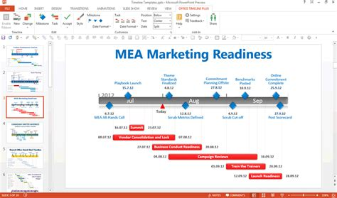 Editing A Gantt Chart In Powerpoint Using The Free Office Powerpoint Office Timeline