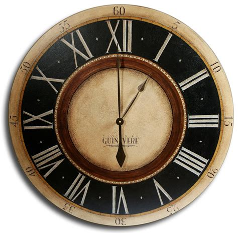 giant clocks 30in large antique style big wall clock art penny lane