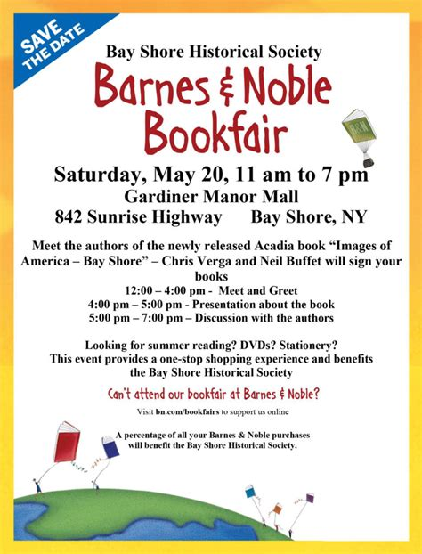 Meet The Authors At Barnes And Noble by Bay Shore Historical Society Barnes Noble Book Fair