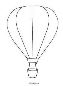 air balloon template air balloon coloring template coloring pages