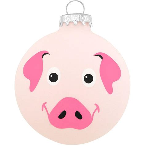 round pig glass ornament novelty nostalgia fun