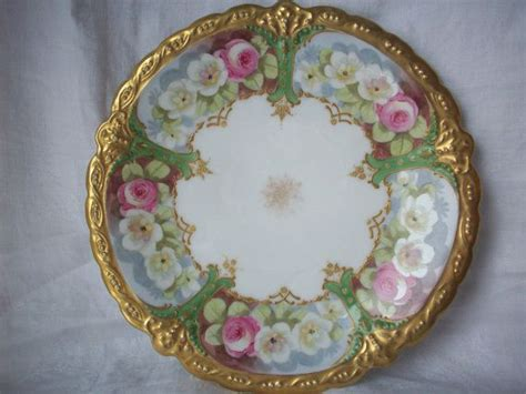antique painted ls antique ls s limoges painted plate antiques