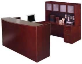 U Shaped Reception Desk New U Shape Reception Desk W Hutch Espresso Or Maple Laminate Ebay
